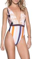 Maaji Rainbow Jungle Reversible One-Piece Swimsuit