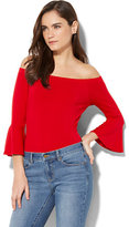 New York & Co. Off-The-Shoulder Bell-Sleeve Bodysuit