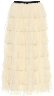 RED Valentino layered tulle miniskirt