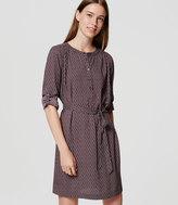 LOFT Petite Bloom Shirtdress