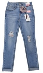 Imperial Star Big Girls Fashion Jeans with Scrunchie
