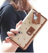 Mapletop Lady Women Long Purse Clutch Wallet Zip Bag Card Holder