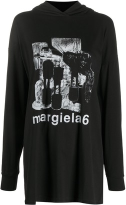 MM6 MAISON MARGIELA Abstract-Print Hoodie