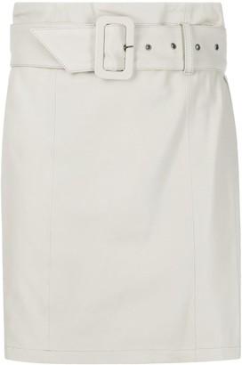 FEDERICA TOSI High-Waisted Belted Mini Skirt