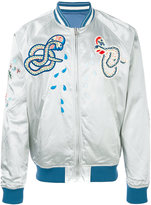 Diesel embroidered snakes bomber jacket