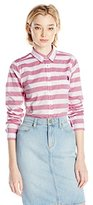 U.S. Polo Assn. Junior's Horizontal Stripe Poplin Long Sleeve Shirt
