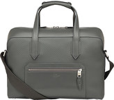 Smythson Greenwich cotton and leather carry-on bag