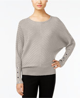 Alfani Petite Ribbed Dolman-Sleeve Sweater, Only at Macy's