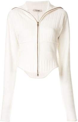 Roberto Cavalli fitted zip-up jacket