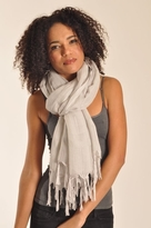 Love Quotes Linen Knotted Fringe Scarf in Peace