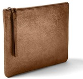 Gap Dusted suede clutch