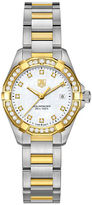 Tag Heuer Ladies Aquaracer Two Tone Stainless Steel and Diamond Watch WAY1453BD092