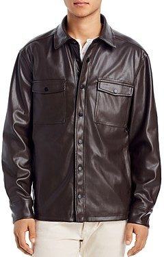 Blank NYC Blanknyc Faux Leather Regular Fit Shirt Jacket