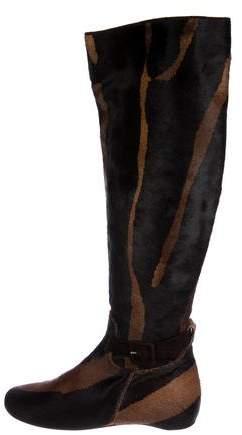 Christian Louboutin Ponyhair Knee-High Boots