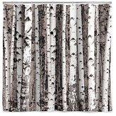 Kikkerland Birch Forest Shower Curtain