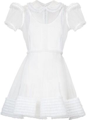 Fendi Short Ruffle-Trim Dress