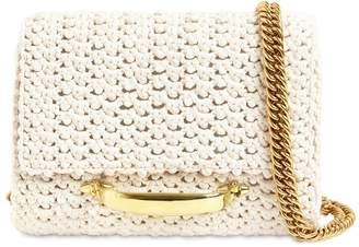 Alexander McQueen The Story Cotton Crochet Shoulder Bag