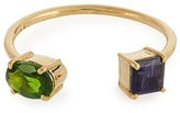 Ileana Makri Diopside, Iolite & yellow-gold ring