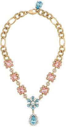 Dolce & Gabbana Floral Crystal-Embellished Necklace