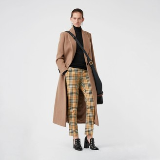 Burberry Vintage Check Wool Cigarette Trousers