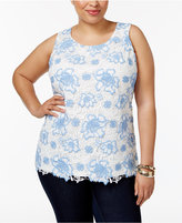 Charter Club Plus Size Lace Tank Top, Only at Macy's