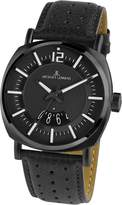 Jacques Lemans Lugano 1-1740E 41mm Ion Plated Stainless Steel Case Leather Mineral Men's Watch