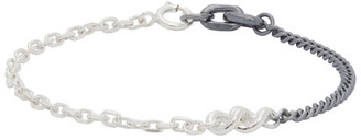Chin Teo Silver and Gunmetal Legion Bond Bracelet