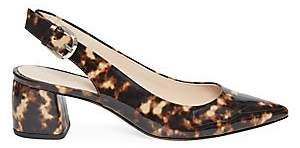 Kate Spade Women's Mika Leopard Patent Leather Slingback Pumps
