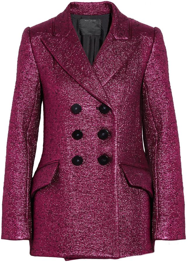 Marc Jacobs Metallic bouclé wool-blend jacket