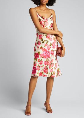 L'Agence Nyla Cowl-Neck Midi Slip Dress