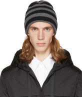 Alexander Wang Grey and Black Striped Beanie
