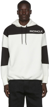 MONCLER GRENOBLE Off-White Polar Fleece Maglia Logotype Hoodie