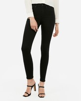 Express High Waisted Denim Perfect Curves Black Ankle Leggings
