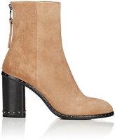 Rag & Bone Women's Studded Aspen Suede Ankle Boots-TAN