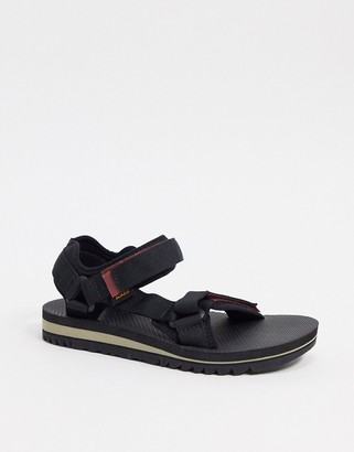 Teva universal trail chunky sandals in black