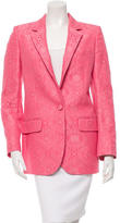 Stella McCartney Jacquard Notch Lapel Blazer