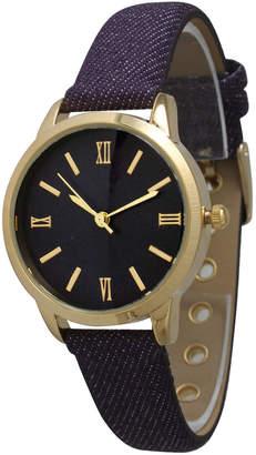Olivia Pratt 38mm Watch w/ Denim Strap