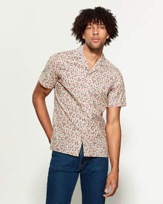 Altea Painterly Floral Short Sleeve Sport Shirt