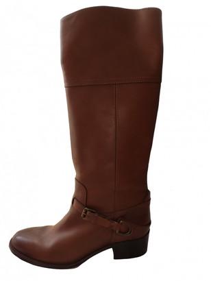 Ralph Lauren Camel Leather Boots