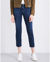 AG Jeans The Isabelle straight high-rise jeans
