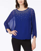 MSK Beaded Dolman-Sleeve Top