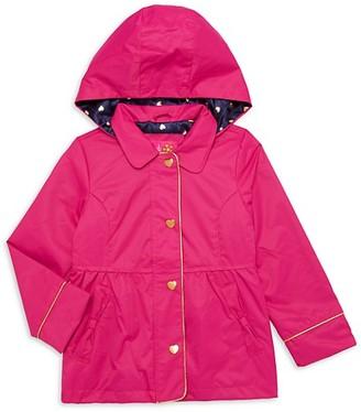 Pink Platinum Little Girl's Hooded Trench Coat