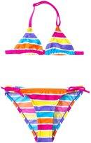Arena Girls' 67 Years Stripes Triangle Bikini Swimsuit Set - 8127930