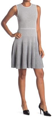 Theory Novelty Pinstripe Sleeveless Dress