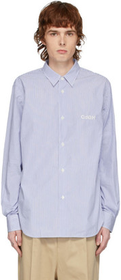 Comme des Garcons Homme Homme Blue and White Stripe Typewriter Shirt