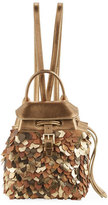 Ralph Lauren Metallic Leather Micro Backpack, Gold