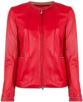 Emporio Armani band collar jacket