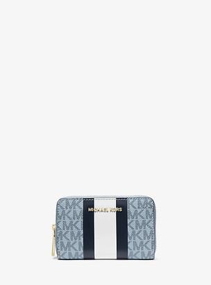 Michael Kors Small Logo Stripe Wallet