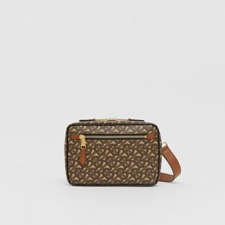Burberry Monogram Print E-canvas Crossbody Bag