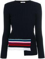 Iceberg stripe trim knitted sweater